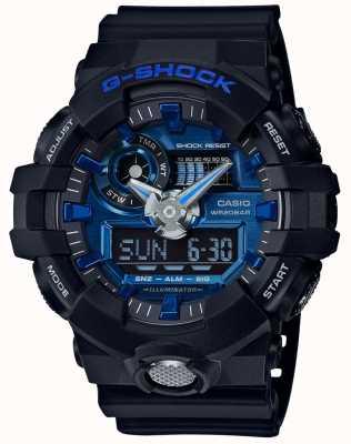 Casio Mens g-choque de alarma cronógrafo azul GA-710-1A2ER