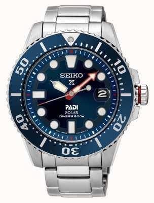 Seiko Mens padi Prospex esfera azul solar SNE435P1