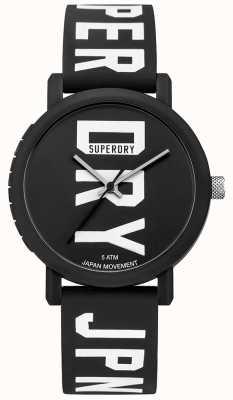 Superdry Reloj de silicona para hombre campus campus fluro negro SYG196BBW