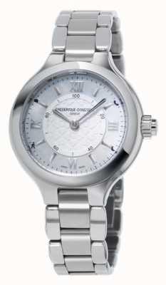 Frederique Constant Womans delicias de plata SmartWatch relojería FC-281WH3ER6B