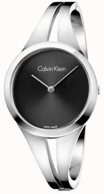 Calvin Klein Womans adicto de acero brazalete negro dial m K7W2M111