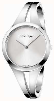 Calvin Klein Womans adicto de acero de la pulsera de plata m K7W2M116