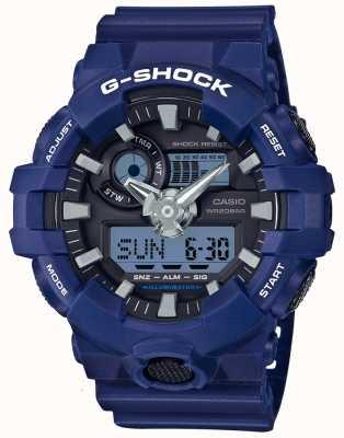 Casio Mens g-choque de alarma cronógrafo azul GA-700-2AER