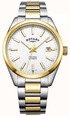 Rotary Para hombre de La Habana dos tonos automática GB05078/02