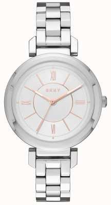 DKNY Womans Ellington reloj de plata de acero NY2582