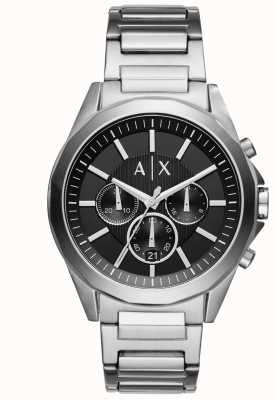 Armani Exchange Mens cronógrafo negro de acero inoxidable AX2600