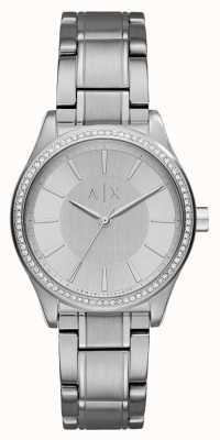 Armani Exchange Reloj de plata de acero del vestido de Womans AX5440
