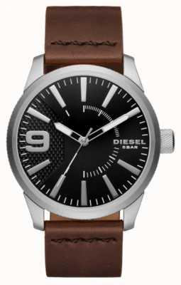 Diesel Raspa de hombre negro y acero inoxidable DZ1802