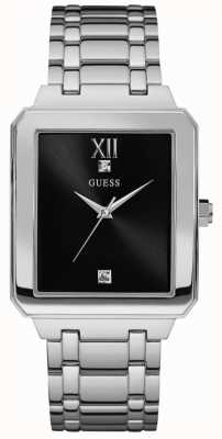 Guess Mens de acero inoxidable de highrise dial negro W0917G1