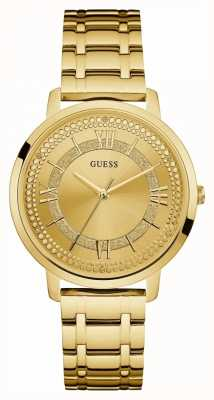 Guess Reloj de oro para mujer montauk oro chapado en oro W0933L2