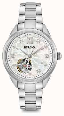 Bulova reloj de diamantes automática de la mujer 96P181