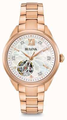 Bulova reloj de diamantes automática de la mujer 97P121