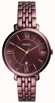 Fossil Acero inoxidable plateado jacqueline para mujer ES4100