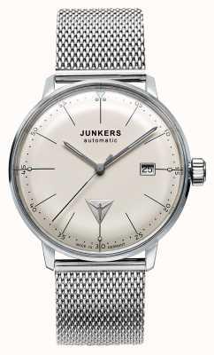 Junkers Para hombre de marcación automática Bauhaus malla de acero inoxidable de color beige 6050M-5