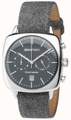 Briston esfera gris correa de tela gris para hombre clubmaster vendimia 17140.PS.V.17.LFG