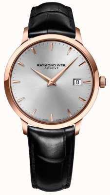 Raymond Weil De cuero para hombre de plata tocata 5488-PC5-65001