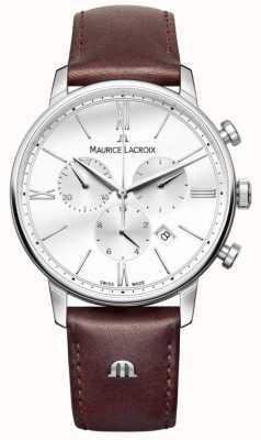 Maurice Lacroix Eliros mens cronógrafo cuero marrón EL1098-SS001-112-1