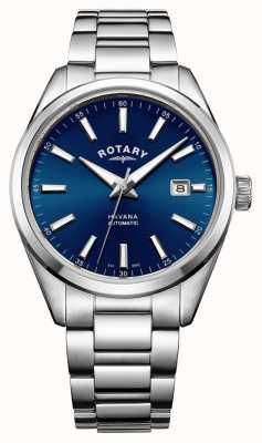 Rotary La Habana para hombre azul de acero inoxidable GB05077/05