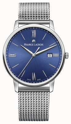 Maurice Lacroix Mens Eliros azul correa de malla pulsera EL1118-SS002-410-1