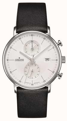 Junghans Forma c cronoscopio piel de becerro negro correa 041/4770.00