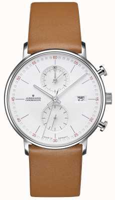 Junghans Forma c cronoscopio piel de becerro correa marrón 041/4774.00