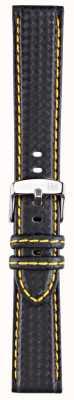Morellato Correa solo - bici techno negro / amarillo 20mm A01U3586977897CR20