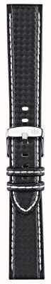 Morellato Correa solo - bici techno negro / blanco 20mm A01U3586977817CR20