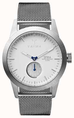 Triwa Malla de acero de espira de marfil para hombre SPST102-ME021212