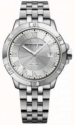 Raymond Weil plata de acero para hombre de tango 8160-ST-00658