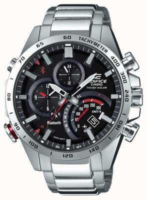 Casio El dial negro del dial del hombre del bluetooth del edificio acentos rojos EQB-501XD-1AER