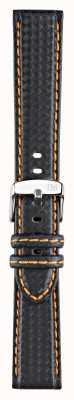 Morellato Solo correa - biking techno negro / naranja 18 mm A01U3586977886CR18