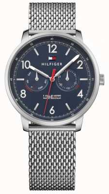 Tommy Hilfiger Hombres de acero inoxidable malla azul dial 1791354