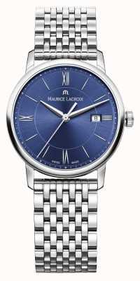 Maurice Lacroix esfera azul brazalete de acero inoxidable para mujer Eliros EL1094-SS002-410-1