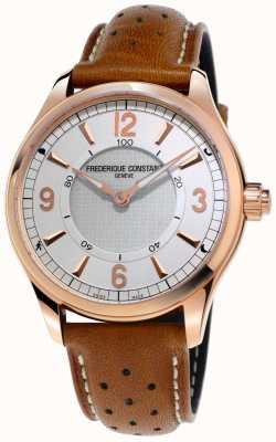 Frederique Constant Reloj inteligente para hombre con bluetooth, correa de cuero marrón FC-282AS5B4