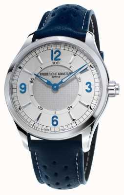 Frederique Constant Mens reloj de pulsera de cuero azul FC-282AS5B6