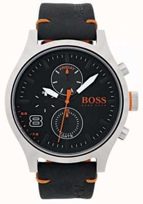 Hugo Boss Orange Hombre negro amsterdam cuero 1550020