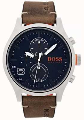 Hugo Boss Orange Hombres amsterdam marrón cuero 1550021