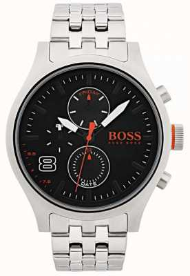 Hugo Boss Orange Hombres amsterdam negro acero inoxidable 1550024