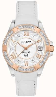 Bulova La mujer blanca de diamante estrella marina 98R233