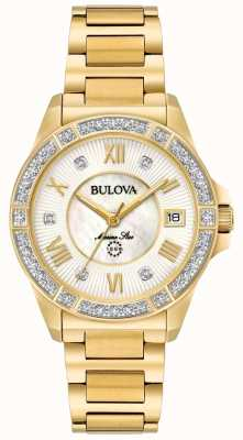 Bulova Womans estrellas marinas tono dorado 98R235
