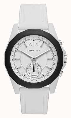 Armani Exchange Correa de silicona blanca con reloj inteligente conectado AXT1000