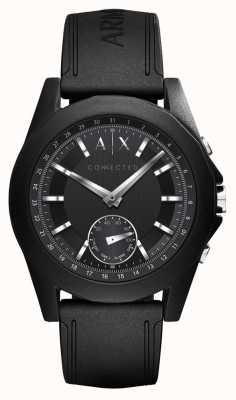 Armani Exchange Correa de silicona negra con reloj inteligente conectado AXT1001