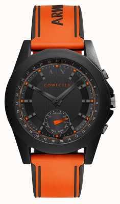 Armani Exchange Correa de silicona naranja de reloj inteligente conectado AXT1003