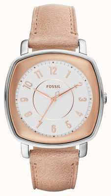 Fossil Cuero beige idealista de la mujer ES4196