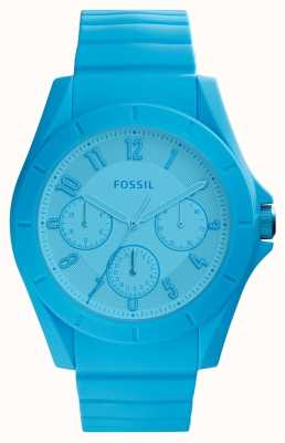 Fossil Womans poptastic cronógrafo azul brillante FS5287