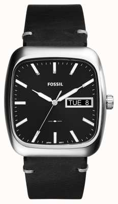 Fossil Mens negro rutherford cuero FS5330