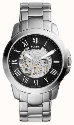Fossil Hombres plata metal ME3103