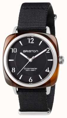 Briston Unisex clubmaster chic acetato de acero negro con correa de nato 17536.SA.T.1.NB
