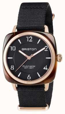 Briston Clubmaster unisex elegancia negro acetato pvd oro rosa 17536.PRA.T.1.NB