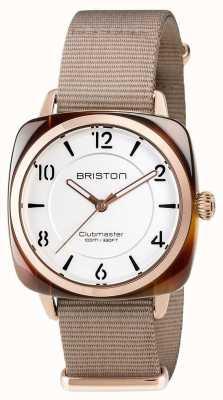 Briston Clubmaster unisex elegancia beige acetato pvd oro rosa 17536.PRA.T.2.NT